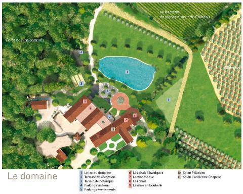 Plan domaine Chateau Saint Julien d'Aille